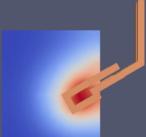 Simulation Induktor Blech